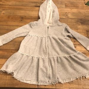 Ragdoll & Rockets Girls Size 8 gray hoodie